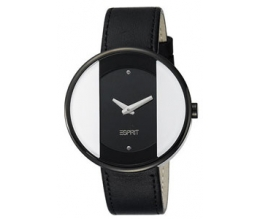 Esprit Eclipse Black Case & Black Leather Strap ES103772002