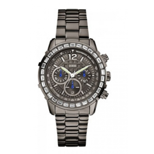 GUESS Crystal - W0016L3 Anthracite case, with Anthracite Bracelet