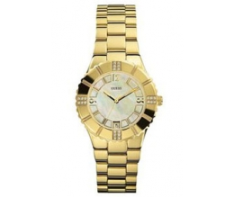 GUESS I-11065L1 Women's Gold Tone Case Mineral Glass