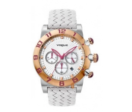 VOGUE Allure Chronograph Two Tone Rose Gold Stainless Steel Leather Strap 17002.8