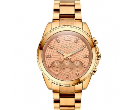 BREEZE Ρολόι Majestyle Crystals Rose Gold Stainless Steel Chronograph 210991.4