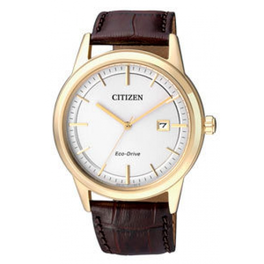 Citizen EcoDrive Gold Brown Leather Strap AW1233-01A