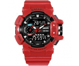 Ρολόι Digital Analog Red Rubber Strap SM 2050