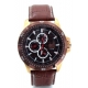 VISETTI Mens Brown Leather Strap Watch PE-SW671RK-L