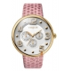 Vogue Ladies Dome Multifunction Pink Leather Strap 17024.1