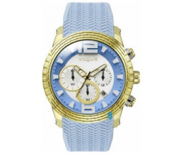Vogue Envy Chrono Gold Light Blue Silicone Strap 17011.9