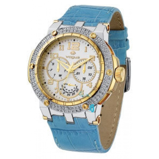 VOGUE Ladies Watch With Blue Leather Strap 160011.7